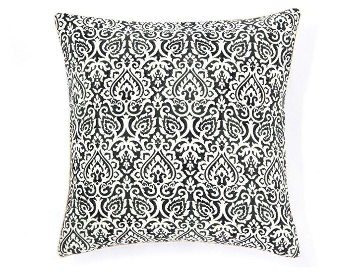 Jaipur 20x20 Outdoor Pillow, Black