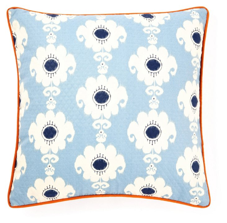 Rise 20x20 Outdoor Pillow, Blue