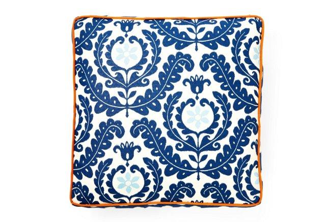 Shine Outdoor Floor Pillow, Blue