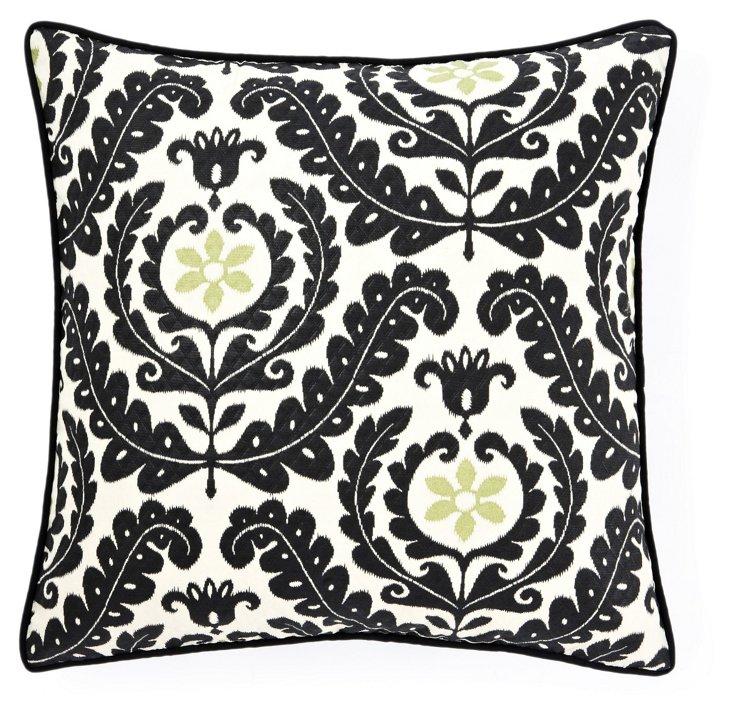 Shine 20x20 Outdoor Pillow, Black