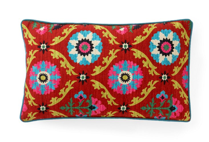 Frida 12x20 Pillow, Red