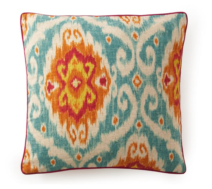 Kyllini 20x20 Cotton Pillow, Light Blue