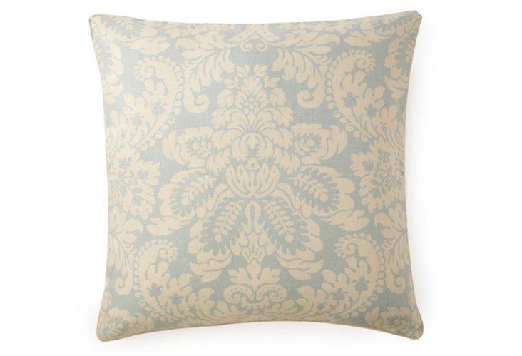 Hibiscus 24x24 Pillow, Sky