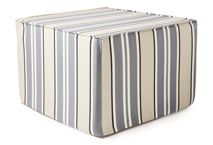 Lines Cube, Gray/White/Tan