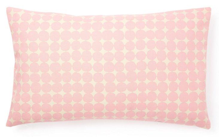 Mini Dots 12x20 Cotton Pillow, Pink