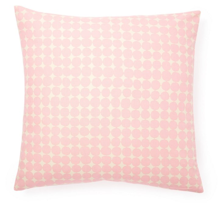 Mini Dots 20x20 Cotton Pillow, Pink