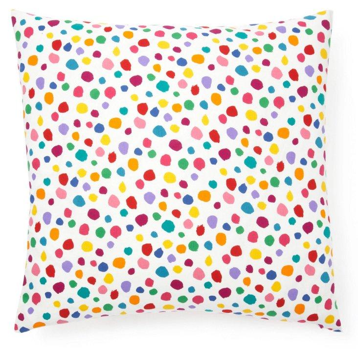 Bright Dots 20x20 Cotton Pillow, Multi