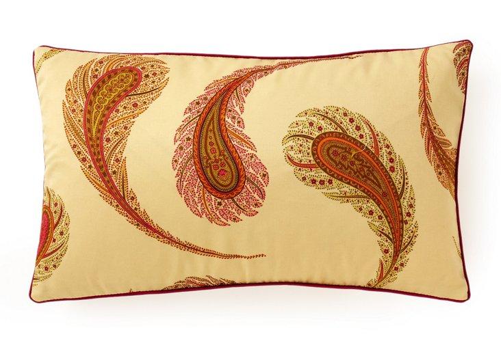 Peacock 12x20 Cotton Pillow, Multi