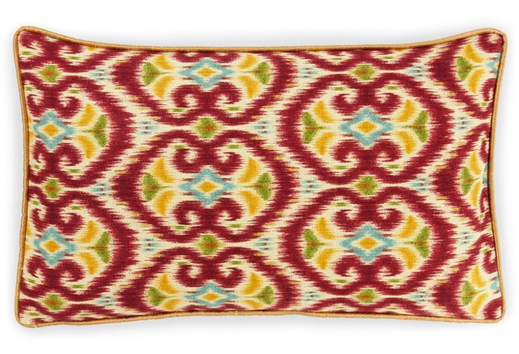 Bali 12x20 Linen-Blend Pillow, Red