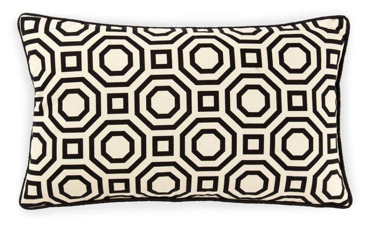 Labyrinth 12x20 Cotton Pillow, White