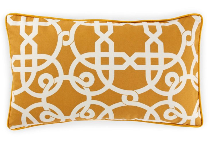 Web 12x20 Cotton Pillow, Mustard