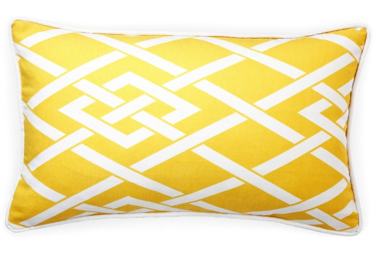 Point 12x20 Outdoor Pillow, Yellow