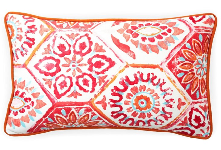 Palermo 12x20 Outdoor Pillow, Red