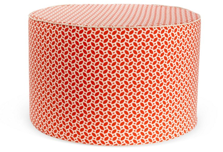 Pik Pak Outdoor Pouf, Red