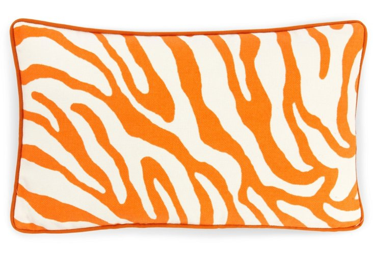 Zebra 12x20 Outdoor Pillow, Orange