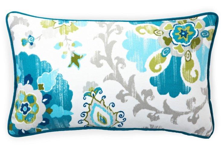 Petals 12x20 Outdoor Pillow, Blue