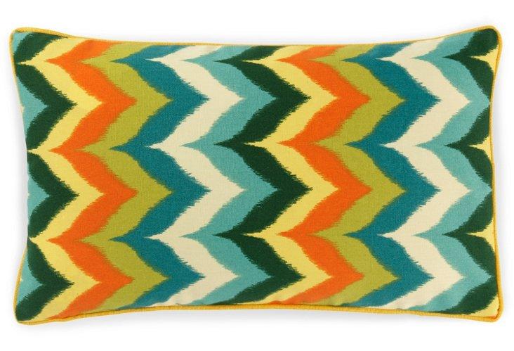 Zigzag 12x20 Outdoor Pillow, Teal