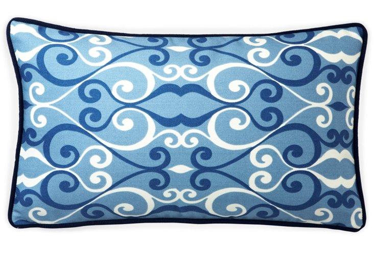 Iron 12x20 Outdoor Pillow, Blue