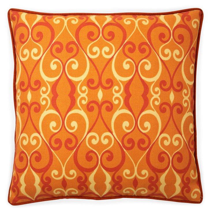 Iron 20x20 Outdoor Pillow, Orange