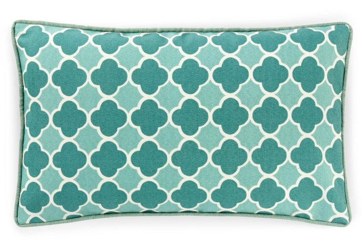 Bilbao 12x20 Outdoor Pillow, Teal