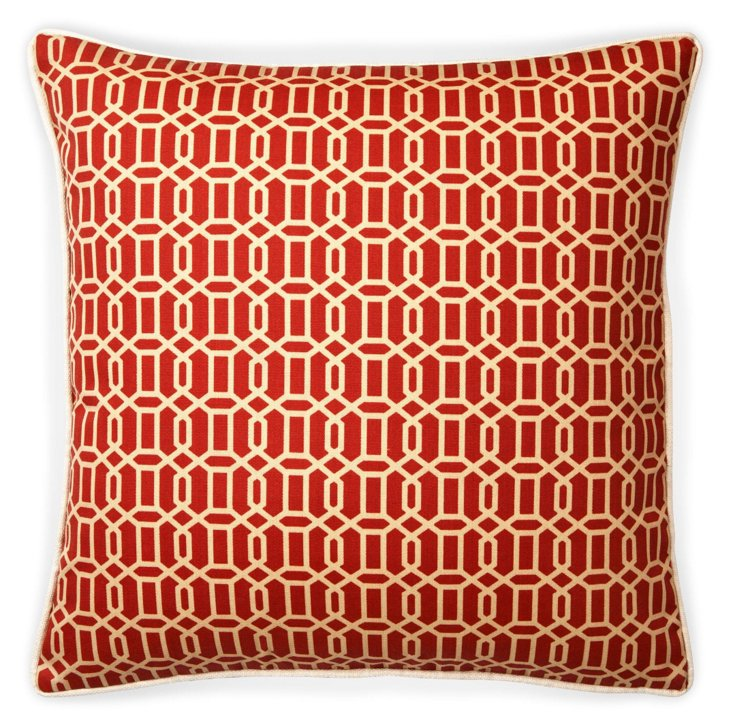 Mosaic 20x20 Outdoor Pillow, Red