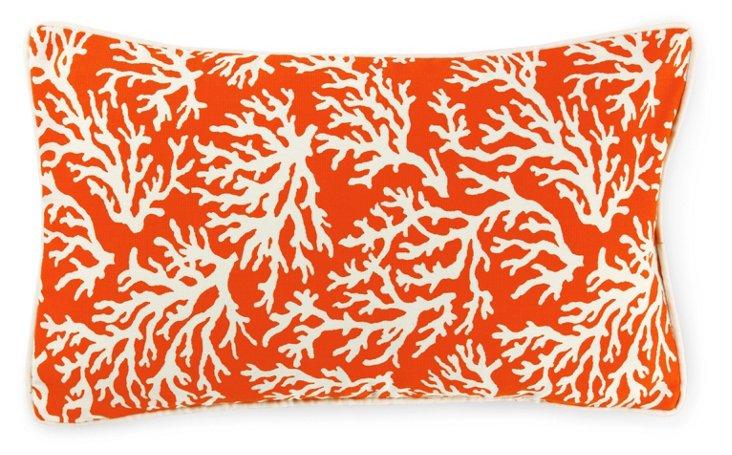 Coral 12x20 Outdoor Pillow, Orange