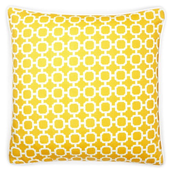 Blocks 20x20 Outdoor Pillow, Yellow