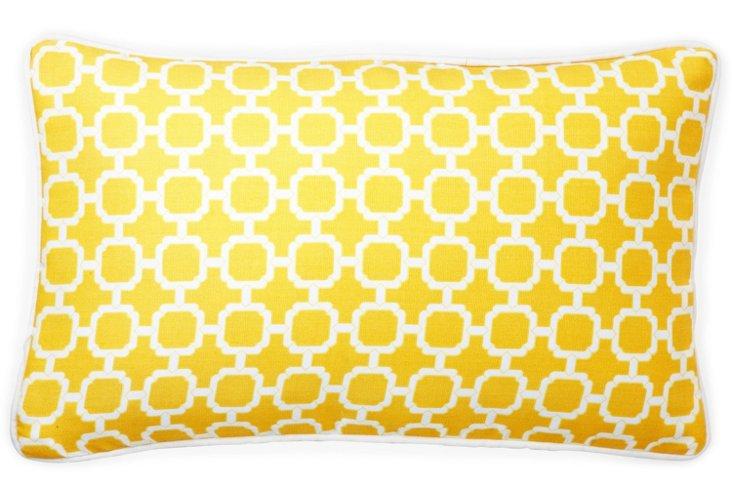 Blocks 12x20 Outdoor Pillow, Yellow