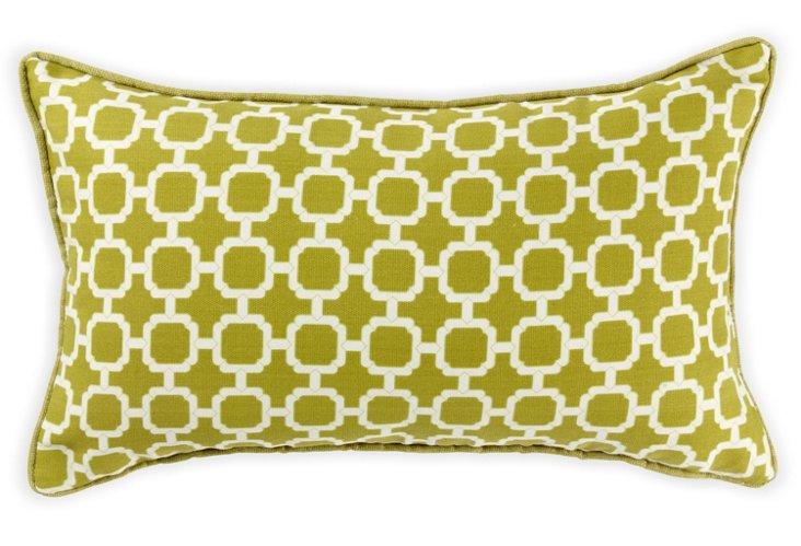 Blocks 12x20 Outdoor Pillow, Green