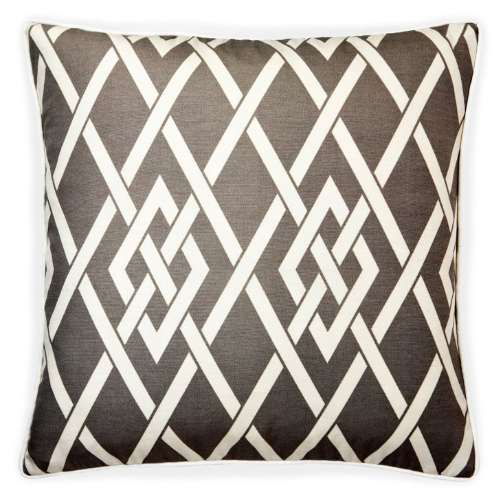 Point 20x20 Outdoor Pillow, Gray