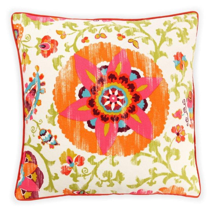 Petals 26x26 Outdoor Pillow, Red