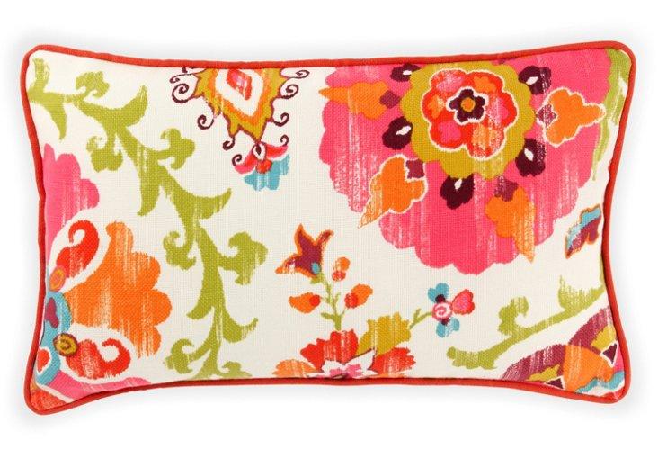 Petals 12x20 Outdoor Pillow, Red