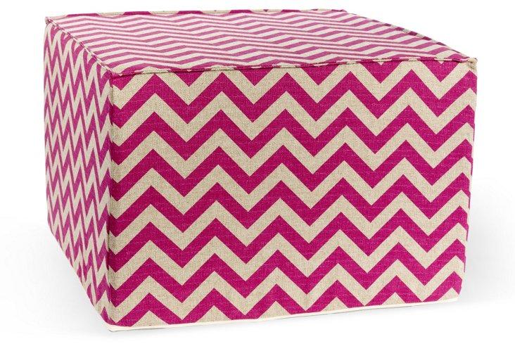 Zigzag Pouf, Pink