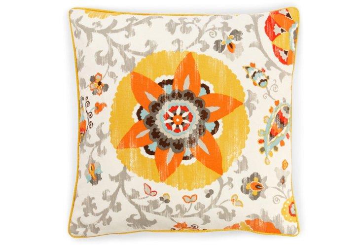 Petals 20x20 Outdoor Pillow, Yellow