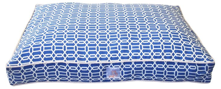 Mosaic Pet Bed, Blue