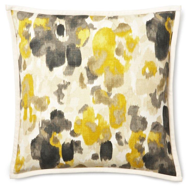 Watercolor 20x20 Linen Pillow, Yellow