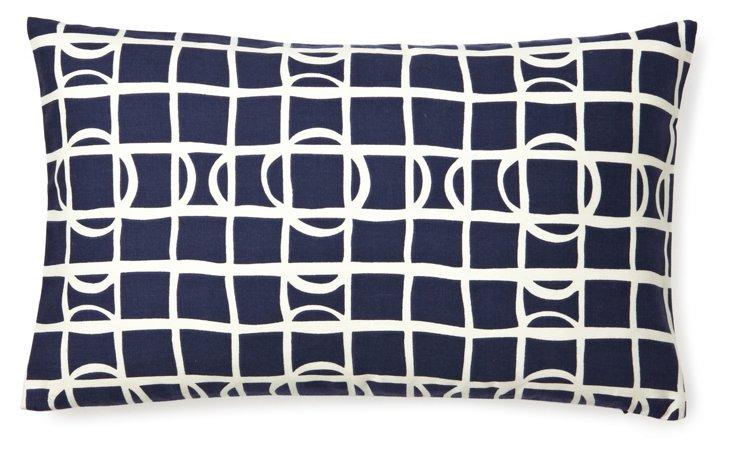 Sonar 12x20 Cotton Pillow, Navy