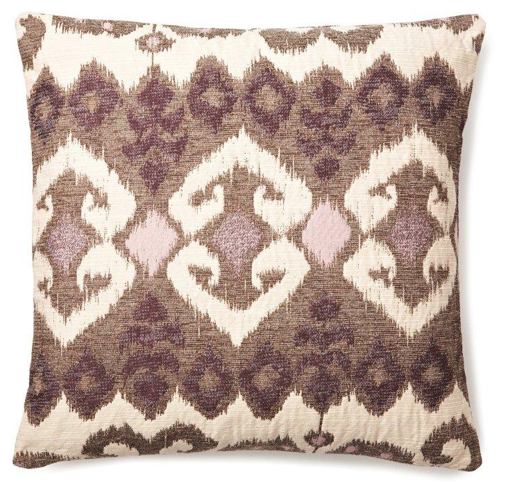 Ikat 20x20 Pillow, Lavender