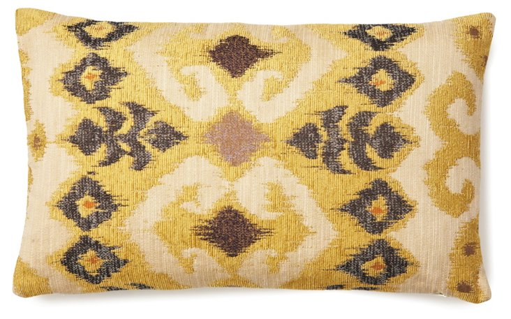Ikat 12x20 Pillow, Yellow