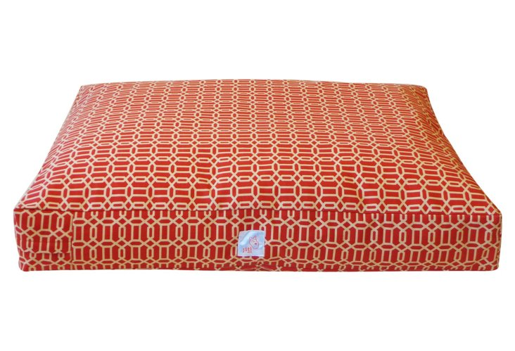 Mosaic Pet Bed, Red