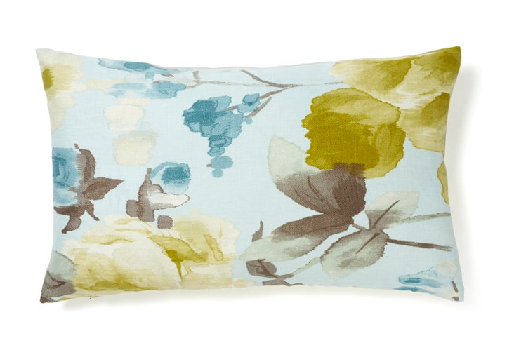 Mandolin 12x20 Cotton Pillow, Lime