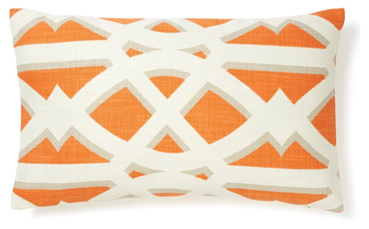 Crossroads 12x20 Pillow, Tangerine