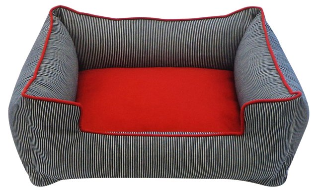 Small Pet Chill Couch, Blue/Red