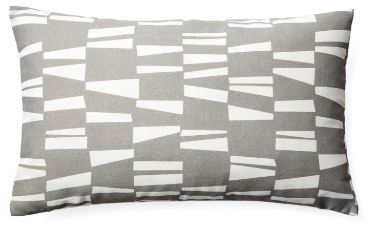 Angles 12x20 Outdoor Pillow, Gray