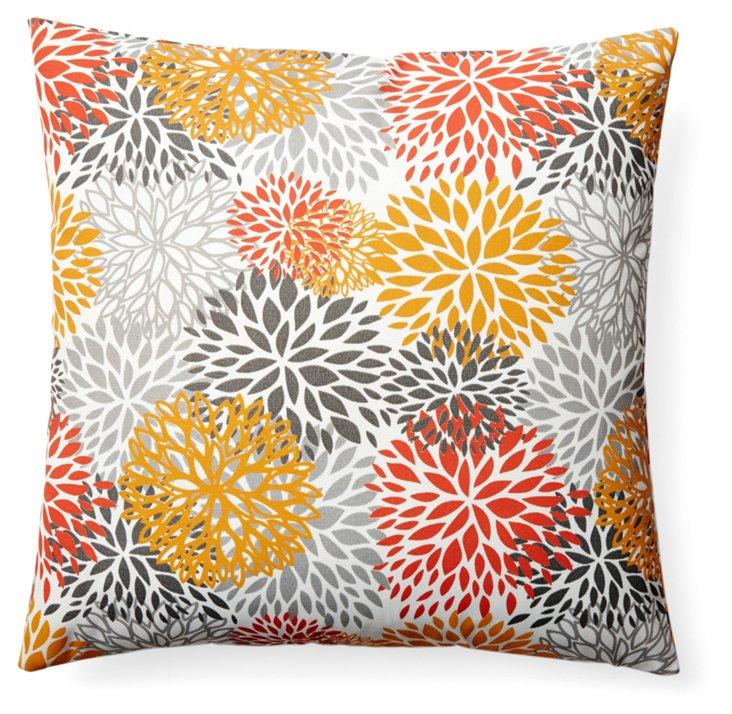 Fireworks 20x20 Outdoor Pillow, Orange
