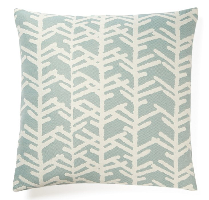 Cactus 20x20 Outdoor Pillow, Blue
