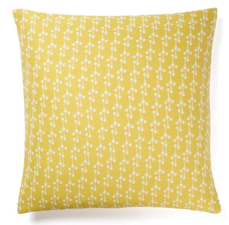 Dandee 20x20 Outdoor Pillow, Yellow