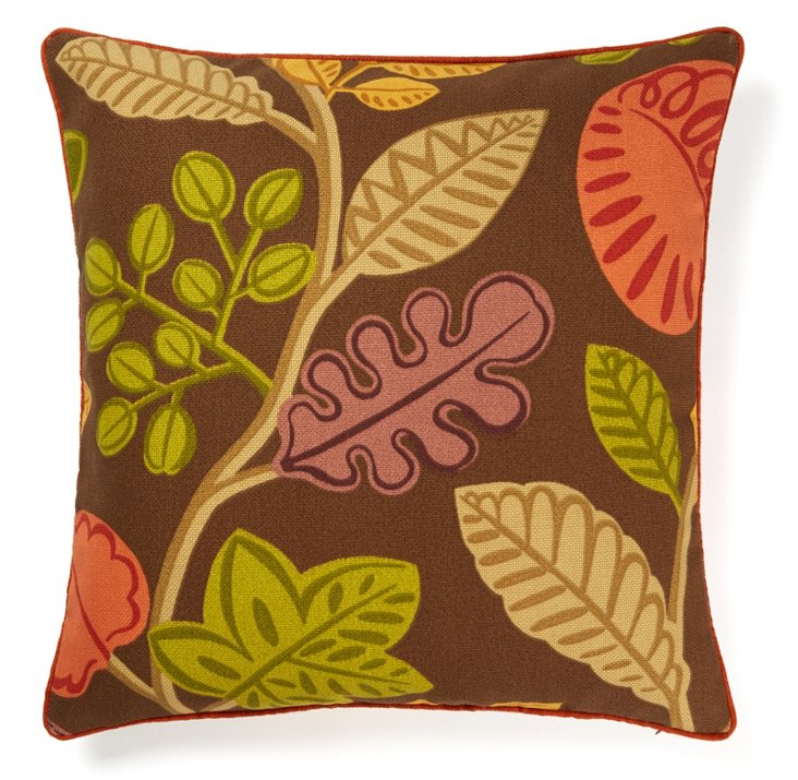 Palm 20x20 Outdoor Pillow, Brown
