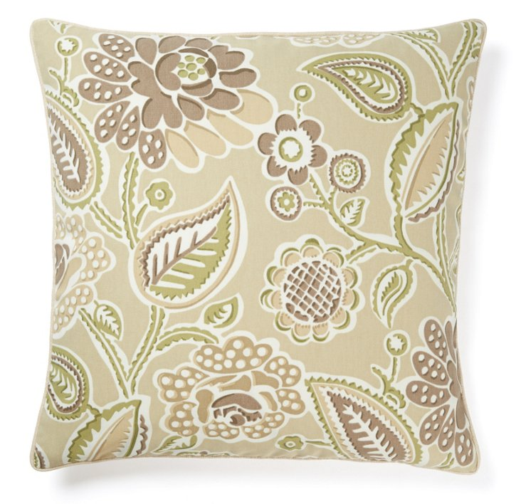 Lavinda 20x20 Outdoor Pillow, Brown