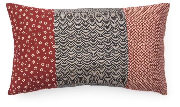 Kio Pieces 12x20 Cotton Pillow, Multi